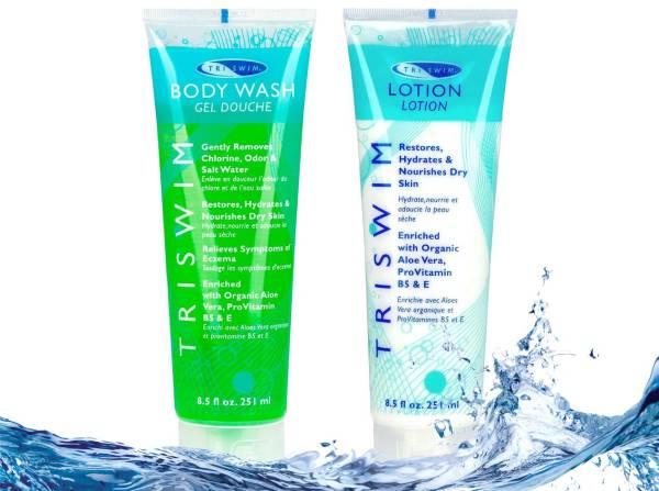 combo sản phẩm chăm sóc làn da sau khi bơi
