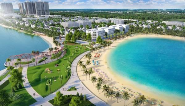 Khu đô thị đầu tiên tại Hà Nội có biển hồ nhân tạo
