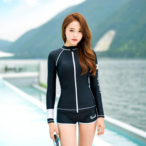 Đồ bơi chống nắng Hàn Quốc (đen)