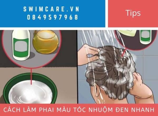 Cách làm phai màu tóc nhuộm đen nhanh