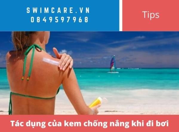 Tác dụng của kem chống nắng khi đi bơi